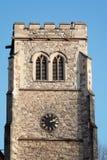 LONDON/UK - FEBRUARI 13: Klockstapel och torn på den Lambeth slotten in Fotografering för Bildbyråer