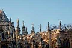 LONDON/UK - FEBRUARI 13: Sikt av den Westminster abbotskloster i London på Royaltyfri Bild