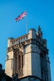 LONDON/UK - FEBRUARI 13: Sikt av den Westminster abbotskloster i London på Arkivfoto