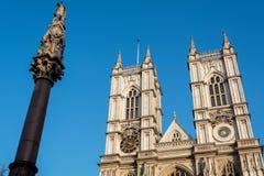 LONDON/UK - FEBRUARI 13: Sikt av den Westminster abbotskloster i London på Royaltyfria Bilder