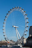 LONDON/UK - FEBRUARI 18: Sikt av det london ögat i London på Fe Royaltyfri Foto
