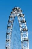 LONDON/UK - FEBRUARI 18: Sikt av det london ögat i London på Fe Arkivfoto