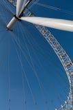 LONDON/UK - FEBRUARI 13: Sikt av det London ögat i London på Fe Royaltyfri Foto
