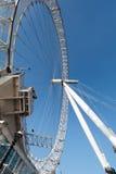 LONDON/UK - FEBRUARI 13: Sikt av det London ögat i London på Fe Royaltyfria Bilder