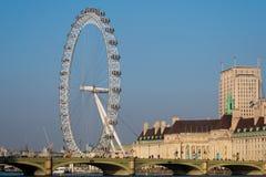 LONDON/UK - FEBRUARI 13: Sikt av det London ögat i London på Fe Royaltyfri Fotografi