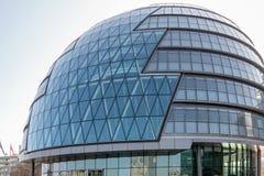 LONDON/UK - FEBRUARI 13: Sikt av stadshuset i London i London Fotografering för Bildbyråer