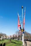 LONDON/UK - FEBRUARI 18: Sikt in mot bårgalleria i London på Fe Royaltyfria Bilder