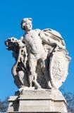 LONDON/UK - FEBRUARI 18: Staty som föreställer den Sydafrika outsien Fotografering för Bildbyråer