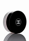 LONDON, UK - FEBRUARY 28, 2017 Chanel face cream container with black logo. Royalty Free Stock Images