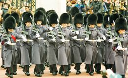 Changing of the guards at Buckingham Palace stock photography