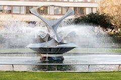 LONDON/UK - FEBRUARY 18 : Fountain next to Westminster Bridge in stock photo