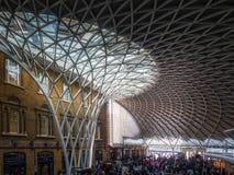 LONDON/UK - FEBRUARY 24 : Kings Cross Station in London on Febru Royalty Free Stock Photo