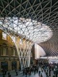 LONDON/UK - FEBRUARY 24 : Kings Cross Station in London on Febru Royalty Free Stock Photos