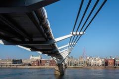 LONDON/UK - FEBRUARY 13 : Millennium Bridge in London on Februar Royalty Free Stock Photography