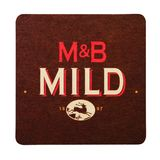 LONDON, UK - FEBRUARY 04, 2018: Mitchells & Butlers Mild beermat coaster isolated on white.