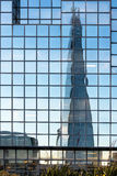 LONDON/UK - FEBRUARY 18 : Reflection of the Shard in London on F Royalty Free Stock Photo