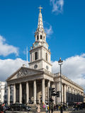 LONDON/UK - FEBRUARY 24 : St Martin-in-the-Fields Church in Traf. Algar Square London on February 24, 2017. Unidentified people Stock Photo