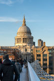 LONDON/UK - FEBRUARY 18 : St Paul's Cathedral in London on Febru Stock Image