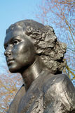 LONDON/UK - FEBRUARY 13 : Statue of Violette Szabo in London on Royalty Free Stock Image