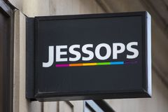 Jessops Photographic Shop. LONDON, UK - FEBRUARY 16TH 2018: The sign above the entrance to a Jessops shop on New Oxford Street in London, on 16th February 2018 Stock Photos