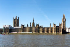 LONDON/UK - FEBRUARY 18 : View of Big Ben and the Houses of Parl Stock Photography