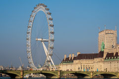 LONDON/UK - FEBRUARY 13 : View of the London Eye in London on Fe Royalty Free Stock Photography