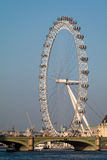 LONDON/UK - FEBRUARY 13 : View of the London Eye in London on Fe Royalty Free Stock Photo
