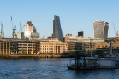 LONDON/UK - FEBRUARY 18 : View of modern buildings in the City o Royalty Free Stock Photos