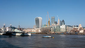 LONDON/UK - FEBRUARY 13 : View of the Skyline in London on Febru Royalty Free Stock Photography