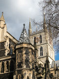 LONDON/UK - FEBRUARY 24 : View of Southwark Cathedral tower and Royalty Free Stock Photos