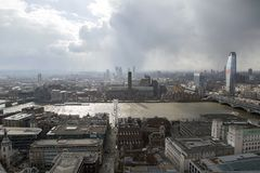 Tate Modern cityscape over the Thames River royalty free stock image