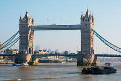 LONDON/UK - FEBRUARY 13 : View of Tower Bridge in London on Febr Royalty Free Stock Photos