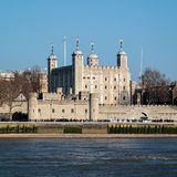 LONDON/UK - FEBRUARY 13 : View of the Tower of London in London Royalty Free Stock Photos