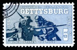 USA Postage Stamp Civil War Centennial Battle of Gettysburg 1863-1963 Stock Photography