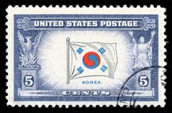 USA postage stamp flag of Korea Royalty Free Stock Images