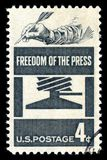 USA Postage Stamp Freedom of the Press Royalty Free Stock Photo