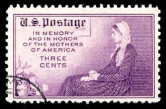 USA postage stamp memory and in honour of the mother`s of America Stock Photography