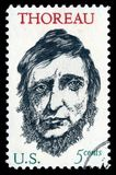 USA postage stamp Henry David Thoreau Royalty Free Stock Photography