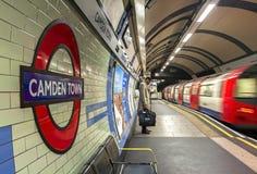 LONDON, UK - Gennary 5, 2019: Camden Town underground station in London. London Underground is the 11th busiest metro system royalty free stock photos