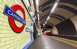 LONDON, UK - Gennary 5, 2019: Camden Town underground station in London. London Underground is the 11th busiest metro system royalty free stock images