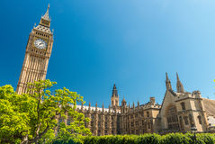 London, UK. Houses of Parliament on a beautiful summer day Royalty Free Stock Photos