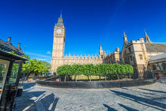 London, UK. Houses of Parliament on a beautiful summer day Royalty Free Stock Image