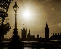 London, UK Houses of Parliment in Silhouette Royalty Free Stock Photo
