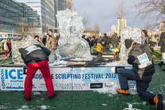 LONDON, UK - JANUARY 13: Artists compete in the freestyle catego Royalty Free Stock Photography