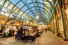 Apple Market at Covent Garden, London. London, UK- January 12, 2018:Apple Market at Covent Garden, London Stock Photo