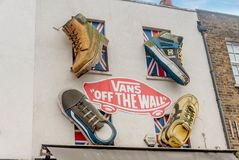 Art on the building walls  in Camden, London. London, UK- January 11, 2018:Art on the building walls  in Camden, London Royalty Free Stock Images