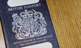 Old British Passport Royalty Free Stock Photo