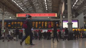 LONDON, UK. January 19, 2017. Victoria Station with people stock footage
