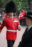 London UK-Juli 06, soldat av den kungliga vakten, Juli 06 2015 i London Royaltyfri Foto