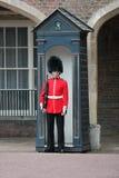 London UK-Juli 06, soldat av den kungliga vakten, Juli 06 2015 i London Arkivbilder